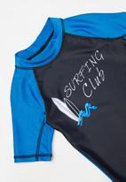 POP CANDY - Boys short sleeve rash vest - navy & blue