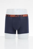 PUMA - Puma logo stripe boxer 2 pack - blue & navy