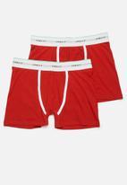 Superbalist - 2 Pack Tex boxer briefs - red
