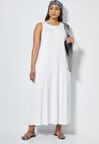 Superbalist - Trapeze vest dress - white