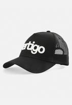 Vertigo - Mens vertigo embroidered cap - black & white