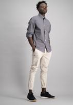 Aca Joe - Mens plain long sleeve shirt - grey