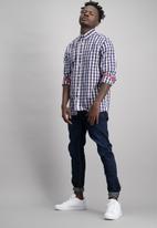 Aca Joe - Mens aca joe check long sleeve shirt - multi