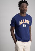 Aca Joe - Mens aca joe short sleeve T-shirt - navy