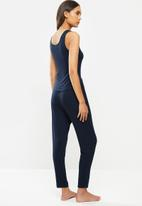 Superbalist - Sleep vest & drop crotch pants set - navy
