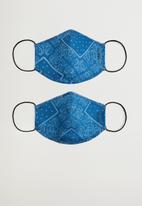 MANGO - Hat mskbanda - blue