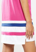 FILA - Stella T-shirt dress - white & pink