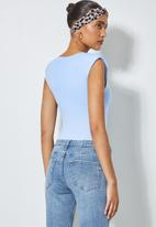 Superbalist - Shoulder pad bodysuit - ice blue