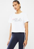 FILA - Storm crop box T-shirt - white