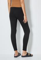 Superbalist - 7/8 rib leggings - black
