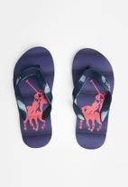 POLO - Boys milo pony flip flop - navy