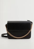 MANGO - Bag mch katia  - black