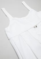 Superbalist - Cut out detail playsuit - white