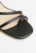 edit - Leonie barely-there heel - black