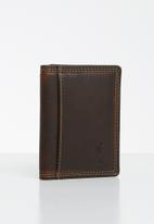 POLO - Tuscany leather credit card holder - brown