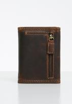 POLO - Tuscany trifold wallet - brown