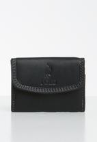 POLO - Tuscany leather mini billfold - black