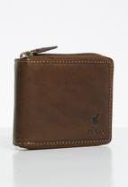 POLO - Tuscany zip around wallet - brown