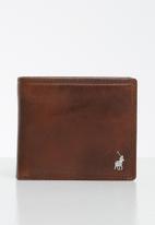 POLO - Etosha wallet coin billfold w top card flap - brown