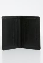 POLO - Tuscany leather credit card wallet - black