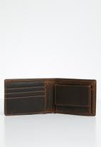 POLO - Tuscany leather sml multicard coin wallet - brown