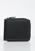 POLO - Tuscany zip around wallet - black