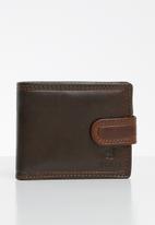 POLO - Kenya smalls tab wallet - brown