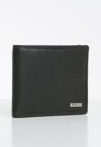 POLO - Nappa billfold with coin sec - black