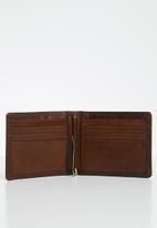 POLO - Kenya smalls billfold money clip wallet - brown