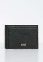 POLO - Nappa credit card wallet - black