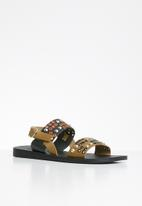 iFELE - Sibongile leather sandal - tan/black