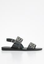 iFELE - Sibongile leather sandal - black
