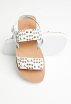 iFELE - Sibongile platform leather sandal - white