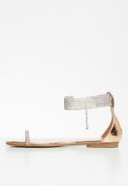 Sissy Boy - A diamond in the cuff - diamanté ankle strap sandal  - rose gold