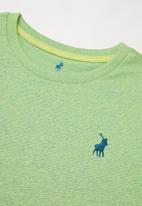 POLO - Hawke space dye short sleeve tee - lime