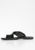 POLO - Lucas cross over sandal - black