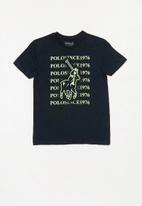 POLO - Ethan printed tee - navy