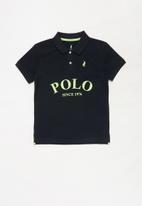 POLO - Boys Justin printed golfer - navy