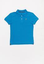 POLO - Boys austin golfer - cobalt