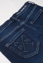 POLO - Boys jake denim short - blue