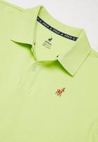 POLO - Boys Austin golfer - lime