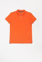 POLO - Boys Austin golfer - orange