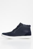 POLO - Leather casual boot - navy