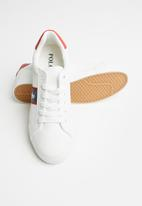 POLO - Jenna side flash sneaker - white