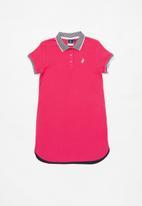 POLO - Girls alexis honeycomb golfer dress - cerise