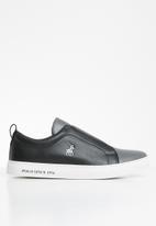 POLO - Boston gusset slip on sneaker - black