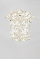 POLO - Boys anthony printed short sleeve shirt - stone
