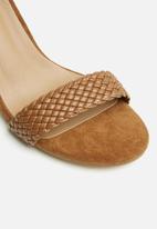 POLO - Kira woven high heel sandal - tan