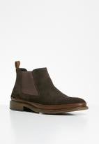 POLO - Suede chelsea boot - dark brown