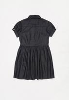 POLO - Girls Debbie short sleeve dress - drak blue